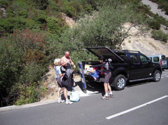 Départ expédition canyonning